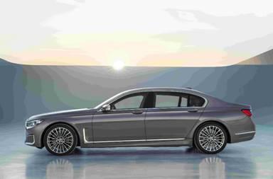 新BMW 7系侧部